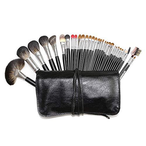Pinceaux 32pcs professionnel souple synthétique kabuki cosmétique sourcils ombre maquillage kit de pinceau de maquillage Beauté du visage
