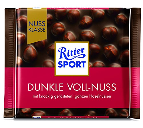 Ritter Sport Nuss Klasse Dunkle Voll-Nuss, 100g