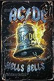 Ac-dc Hell's Bells Poster Zeichen Wandbild Wandbehang Retro
