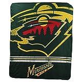 Northwest NHL Fade Away Printed Fleece Throw, 50' x 60' (Minnesota Wild)