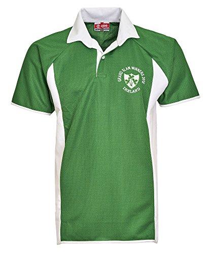 Activewear Maillot de rugby Irlande 2018 Grand Slam Winners Taille S à 5XL Édition limitée - Vert - M