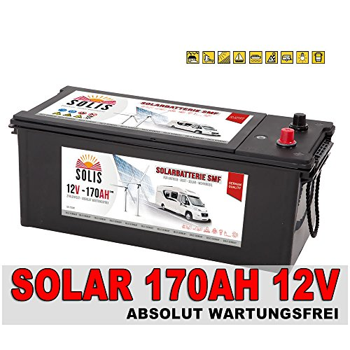 Solarbatterie 170Ah Versorgungsbatterie Wohnmobil Mover Boots Batterie 140Ah
