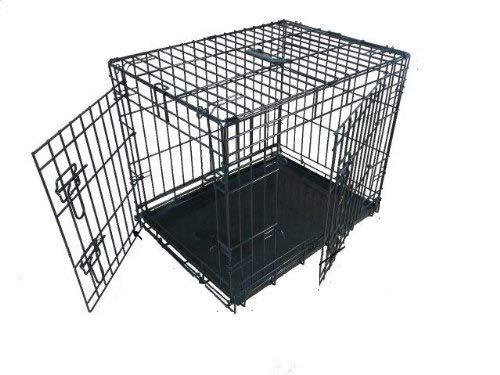 Ellie-Bo Hundebox/Transportkäfig für Hundewelpen, zusammenklappbar, 2 Türen, mit beißfester Bodenwanne aus Metall, 107cm, GrößeXL