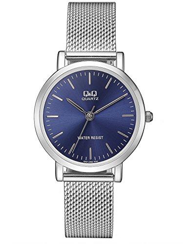 Citizen Q&Q QA21J202Y - Reloj de Pulsera para Mujer, Azul/Metálico