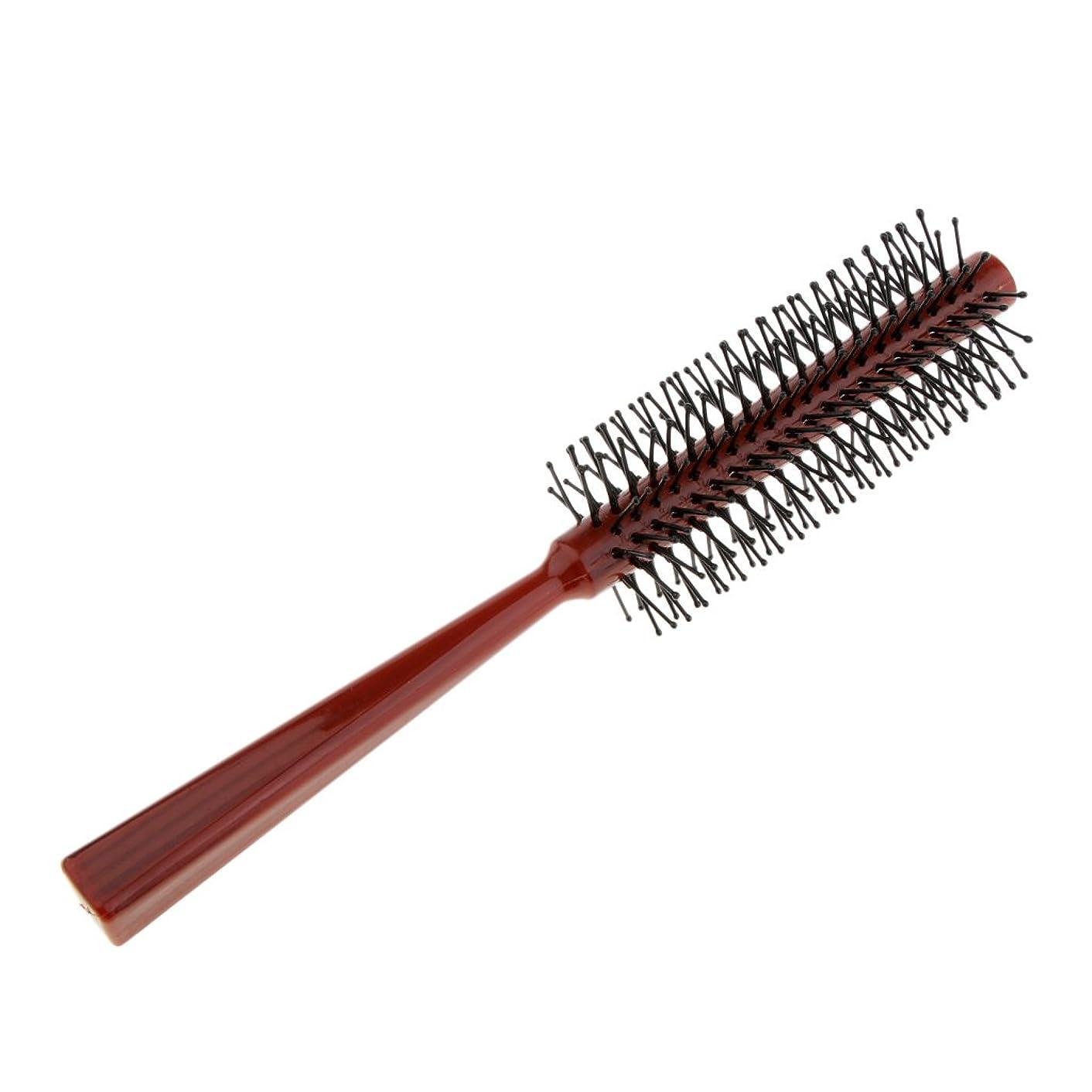 クモ牧草地怪物Sharplace ロールブラシ ヘアコーム 櫛 ヘアサロン 美容師 全2色 - 赤