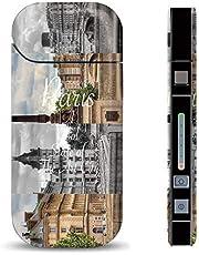 iQOS スキンシール 【 iQOS専用 】 海外 セレブ デザイン パリ ロンドン お洒落 バラ ボーダー ハート paris iQOS アイコス 表・裏・側面 全面対応