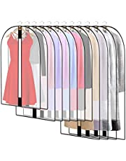 12 Stuks Kledingzak, ademende stof kleding zakken, transparant kledinghoes, kledingbescherming, beschermhoes voor bruidsjurken, avondjurken, kleding, mantels, shirts, pakken, jas, lange ritssluiting