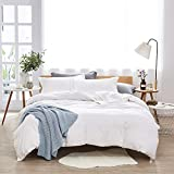 Dreaming Wapiti Duvet Cover King, 100% Washed Microfiber 3pcs Bedding Set,Solid Color - So...