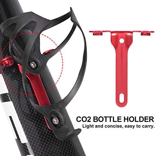 Germerse Soporte para Bicicleta CO2, Soporte para Botella de CO2, Accesorios para Montar en Bicicleta de montaña al Aire Libre(Red)