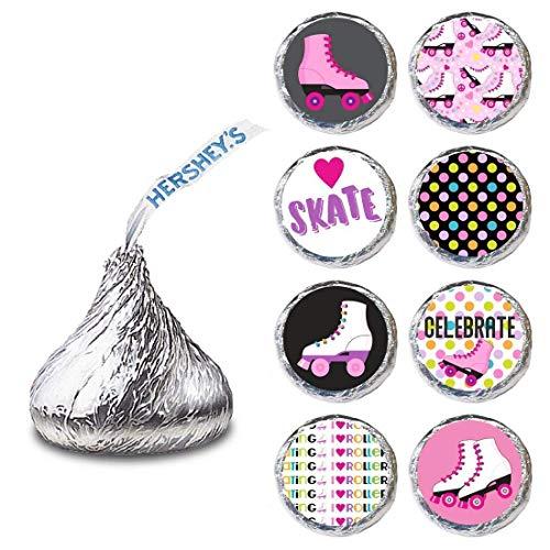 Rollschuhlaufen Etikett für HERSHEY'S KISSES® Pralinen - Roller Skate Candy Stickers - 240 er Set