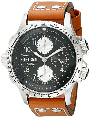 Hamilton H77616533 Khaki - Reloj cronógrafo Negro