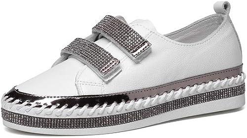 AdeeSu SDC06137, Sandales Compensées Femme - Blanc - Blanc, 36.5 EU