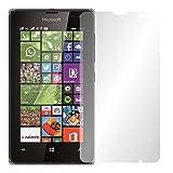 Slabo 4 x Bildschirmschutzfolie für Microsoft Lumia 532 Bildschirmfolie Schutzfolie Folie Zubehör Crystal Clear KLAR