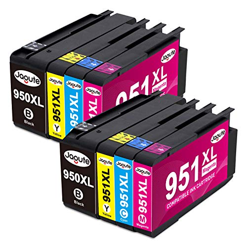Jagute 950XL 951XL Multipack Patronen Kompatibel für HP 950XL 951XL 950 951 XL für HP Officejet Pro 8610 8600 8620 8100 8615 8625 251dw 276dw 8630 8640 8660 (2 Schwarz 2 Cyan 2 Magenta 2 Gelb)