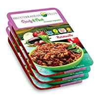 Ready Fresh Packaged Vegetables & Meals, Mediterranean Ratatouille - 3 Pack. All Natural, Vegan, Plant Based, Non GMO, Keto Friendly, and Gluten Free