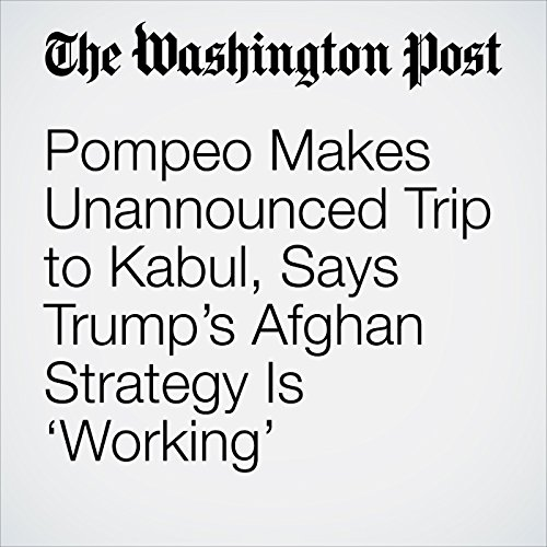 Pompeo Makes Unannounced Trip to Kabul, Says Trump's Afghan Strategy Is 'Working' copertina