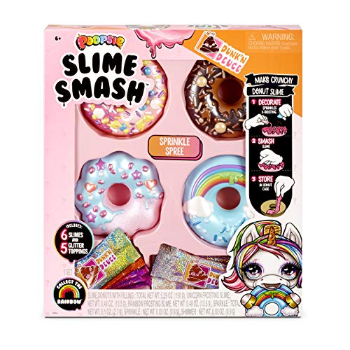 Poopsie Slime Smash Sprinkle Spree with Crunchy Donut Slime, Multicolor Now $15.00 (Was $29.99)