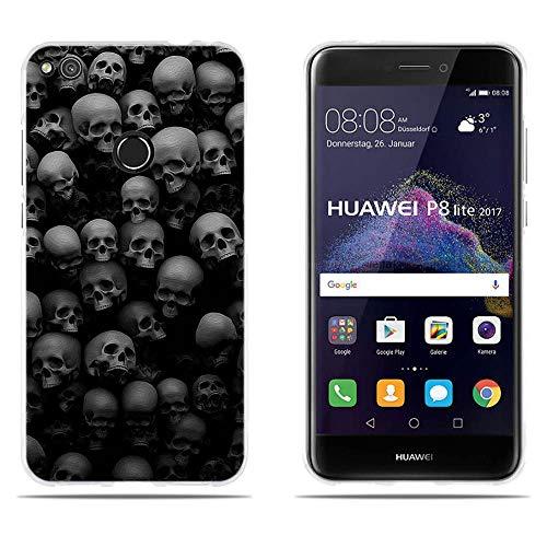 DIKAS para Huawei P8 Lite 2017/ Honor 8 Lite/ P9 Lite 2017 Funda TPU de Gel de Silicona, Protectora de Goma para Huawei P8 Lite 2017/ Honor 8 Lite/ P9 Lite 2017 (5.2')- Pic: 03
