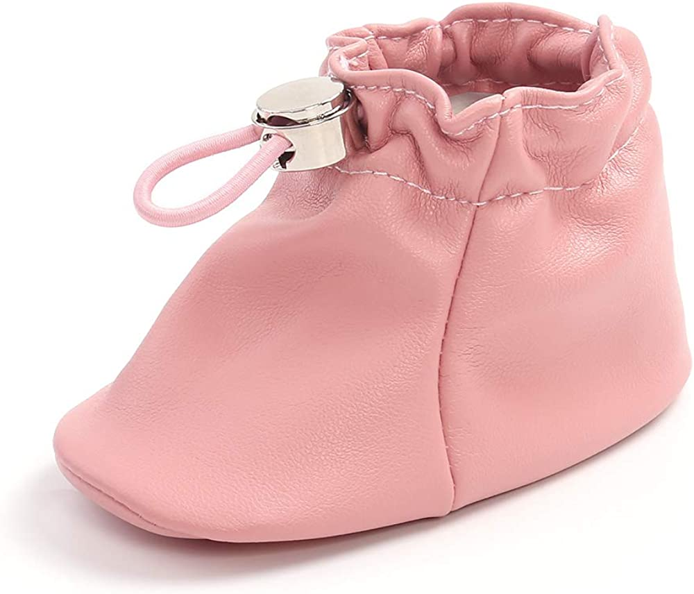 Baby Boys Girls Pu Leather Booties Soft Newborn Moccasins Non Slip Infant Booties Toddler First Walker Shoes