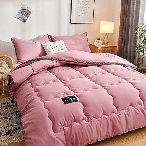 TOSBTD All-Season Down Alternative Quilted Comforter Premium Soft Duvet Insert Box Stitched Quilt for Home, Hotel, Dorm Room,Pink,200x230cm/4kg