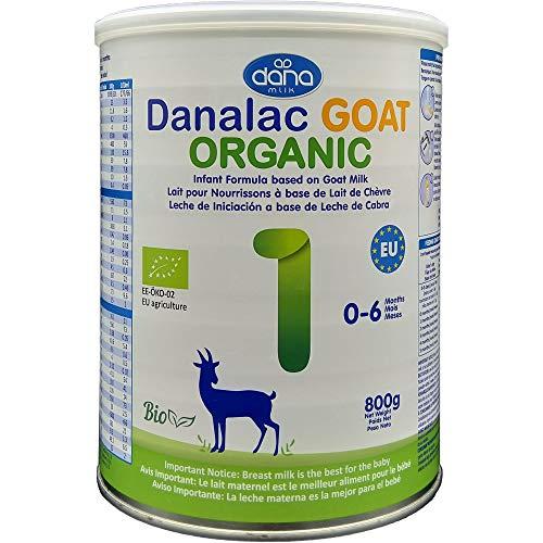 DANALAC Bio Lait bébé avancé Formule Infantile à base de lait de Chèvre 1er âge Lait en poudre pour nourrissons et bébés âge 0 à 6 mois - Formule EU-2020 800g