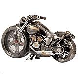 Gearmax Weinlese Motorrad-Wecker, Retro-Stil Tischuhr,Studenten Alarm Clock Tisch Schreibtisch, Motorrad-Rack-Modell, für das Büro zu Hause Dekoration Kinder Erwachsene Geburtstagskinder Geschenk