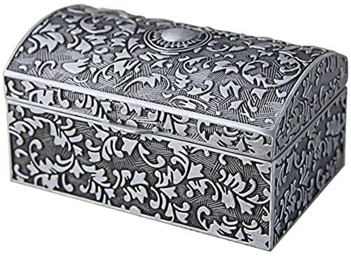Organizador de exhibición de recuerdos de joyería Aleación de zinc estilo europeo retro exquisito clásico caja de tesoro caja de almacenamiento caja pequeño anillo pendientes pulsera joyería caja de j
