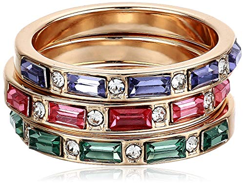 GUESS Multi Colored Three Ring Stacker