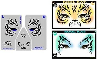 Face Painting Stencil - StencilEyes Kool Kat - Tiger/Cat