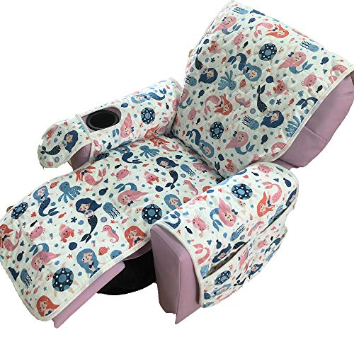 Kids Recliner Chair Cover Only - RBSC Home Antislip Waterproof Kids 14 Inch Recliner Chair Cover for Girls