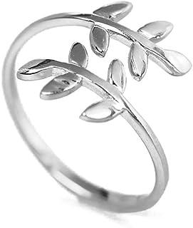 Anillo de la naturaleza árbol hoja anillo abierto moda de aleación de zinc accesorios para el dedo anillo de mujer lady gi...