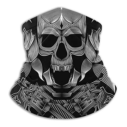 MZZhuBao Pistola pirata negra – Polaina máscara facial pasamontañas Headwear Bandana a prueba de polvo corte UV calentador de cuello ajustable para hombre mujer