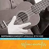 World Rhythm - Juego de cuerdas para ukelele soprano (nailon Uke Strings WR-308)
