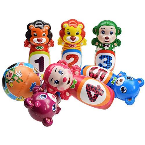 El conjunto de juguete Niños suave rodar Bowling clásico de mesa Bowling juguete de los niños Conjunto Mini Regalo educativo del juguete de Ocio Interactivo regalos divertidos ( Size : Free Size )