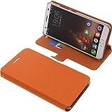foto-kontor Tasche für Oukitel K6000 Plus Book Style Ständer Schutz Hülle Buch orange
