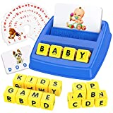 Tesoky Educational Toys for 3-8 Year Old - Sight Words Game Matching Letter Game Flash Card Birthday Gifts for Boys Girls Age 3-8 Blue