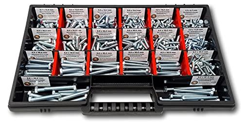Sechskantschrauben Sortiment M4-M5-M6 // 8mm-50mm 350 tlg. Schraubenbox DIN 933 ISO 4017