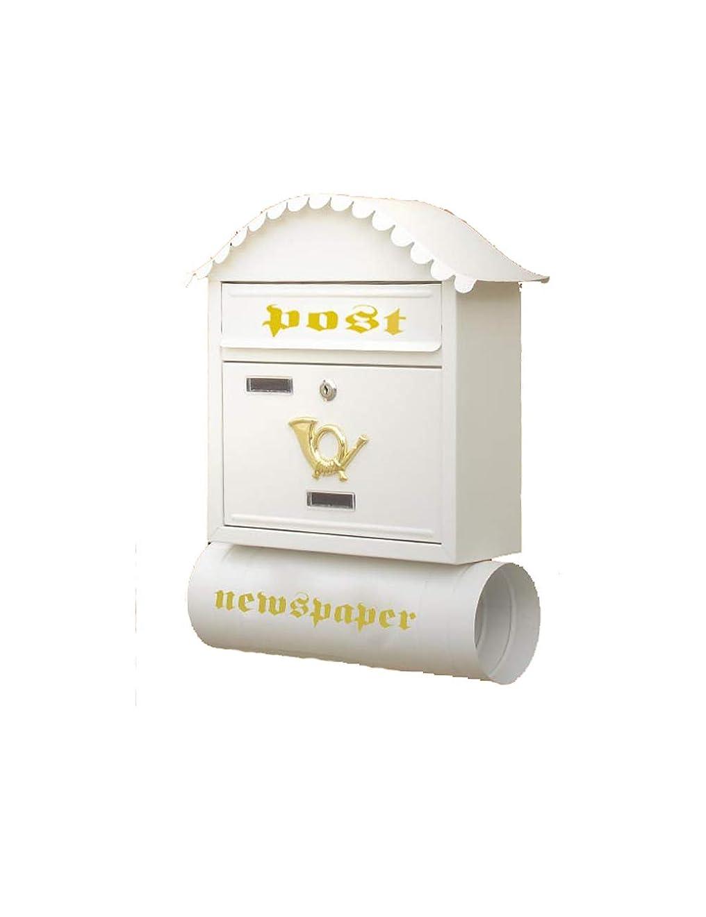 失速悪意ビバXF 新聞チューブ付きのメールボックスクリエイティブコテージのメールボックスガーデン壁掛けのメールボックス //