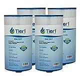 Tier1 Spas Freeflow Legend, Pleatco PFF50P4, Filbur FC-2401, Unicel 5CH-45 Comparable Replacement Filter Cartridge (4-Pack)