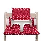 Blausberg Baby *41 couleurs* coussin set de siège pour chaise haute Stokke Tripp Trapp (Rouge étoile ENDUIT) - 100% made in...