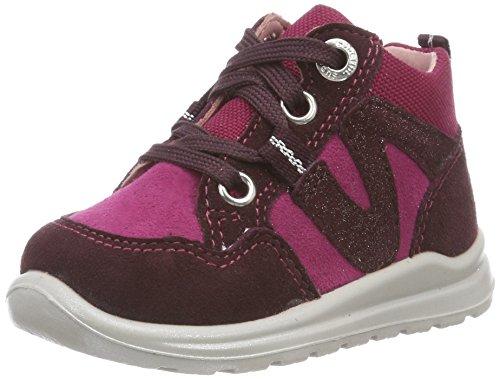 Superfit Baby Mädchen Mel+3-00323-21 Sneaker, ROT/ROT, 21 EU