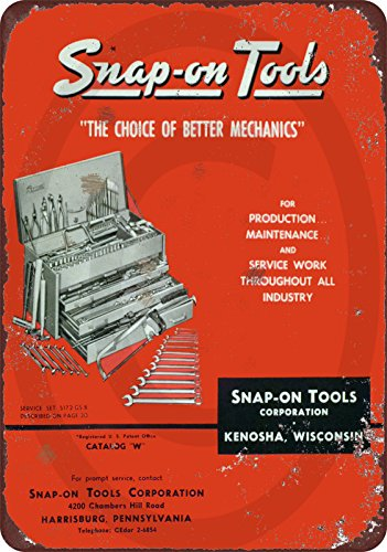 Custom Kraze 1958 Snap On Tool Catalog Vintage Look Reproduction Metal Sign 8x12 USA