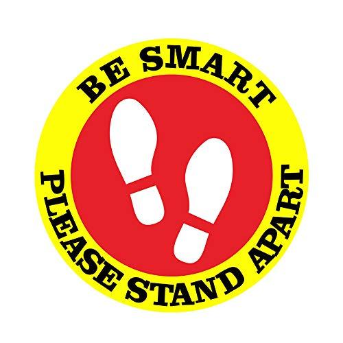 HAIMEN Sicherheitsmarkierungen 5 Stück/Set Bankverkehr Supermarkt Büro Shop Floor Multifunktion Bewahren Sie sichere PVC-Schilder-Aufkleber auf. Soziale Entfernung Selbstklebende Bushaltestelle(L.03)