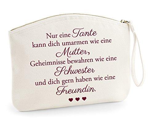 Für die Beste Tante der Welt, kleine Tasche, Kosmetiktasche, Handtasche, Waschtasche