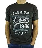 My Generation Gifts Vintage Year - Aged To Perfection - Regalo di Compleanno per 60 Anni Maglietta da Uomo Grigio Antracite XL