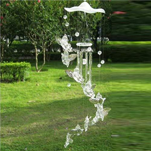 Balai Outdoor Engel Windspiel, Schutzengel Metall Aluminium Rohre Glocke Windspiel für Hausgarten Dekoration Geschenk