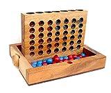 Logica Juegos Art. Conecta 4 L - Juego de Mesa de Madera Fina - Juego de Estrategia para 2 Jugadores - Caja Plegable - Versión de Viaje