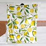 JASMODER Floral Lemon Fruits Throw Blanket Warm Ultra-Soft Micro Fleece Blanket for Bed Couch Living Room