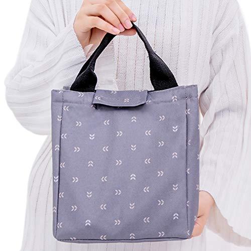 Vi.yo. Lunch Bag Lunch Bag Boîte à Lunch isolée Étanche pour l'école et Le Travail 23 * 19 * 17cm Gris