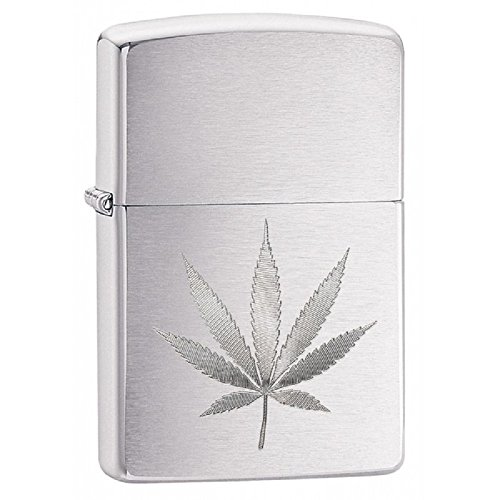 Personalized Message Engraved Customized Gift For Him For Her Edgy Zippo Lighter Indoor Outdoor Windproof Lighter (Leaf)